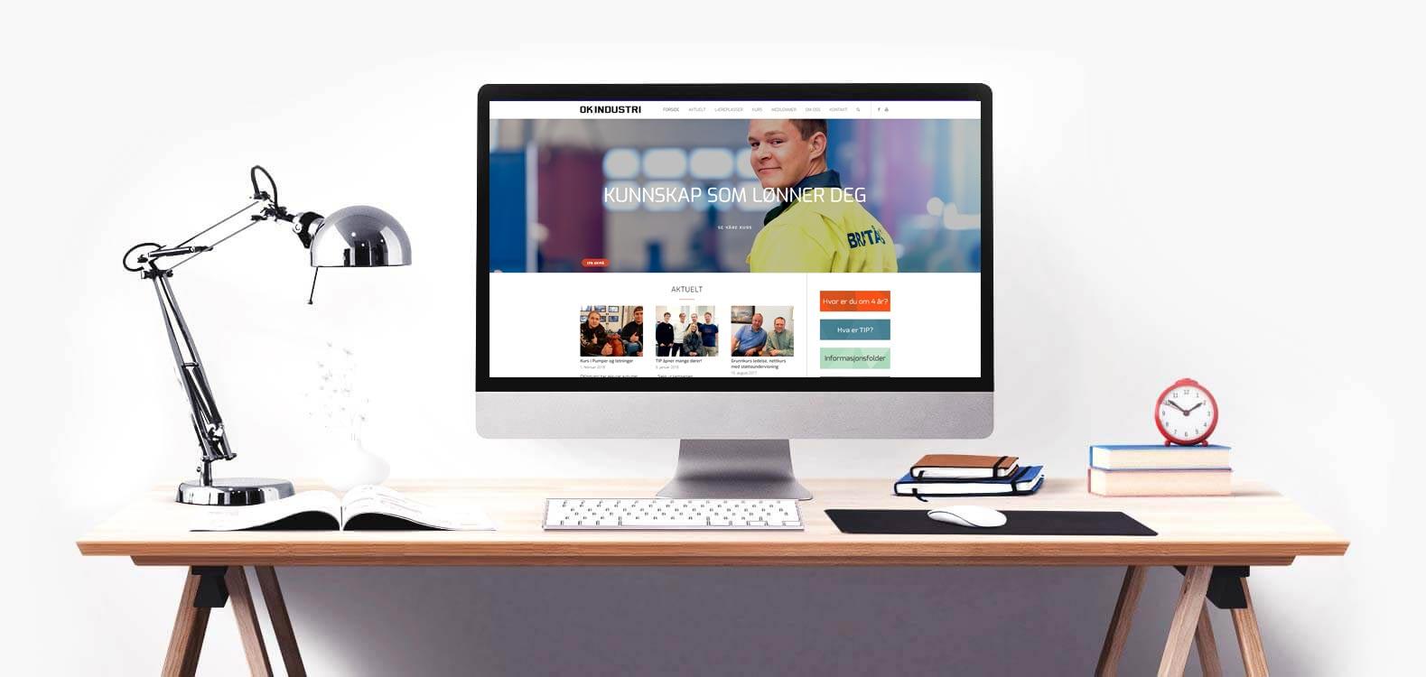 OK Industri med ny hjemmeside